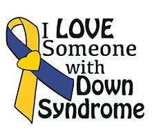 Down syndrome awareness ribbon by TRWS