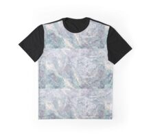 BLUE MARBLE PRINT - Marble Graphic T-Shirt
