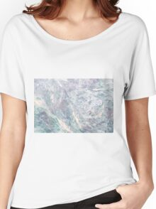 BLUE MARBLE PRINT - Marble Women's Relaxed Fit T-Shirt