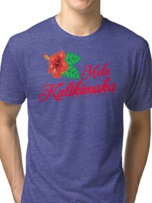 Mele Kalikimaka Tri-blend T-Shirt
