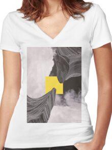 Interloper T-shirt femme moulant col V