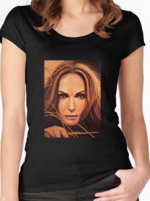 Natalie Portman Painting Women's Fitted Scoop T-Shirt