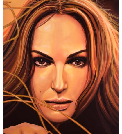 Natalie Portman Painting Sticker