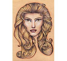 Leo ♌ Astrological Fantasy Portrait Photographic Print