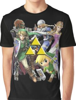 Legend Of Zelda Characters Graphic T-Shirt