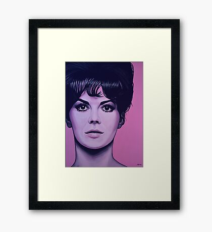 Natalie Wood Painting Framed Print