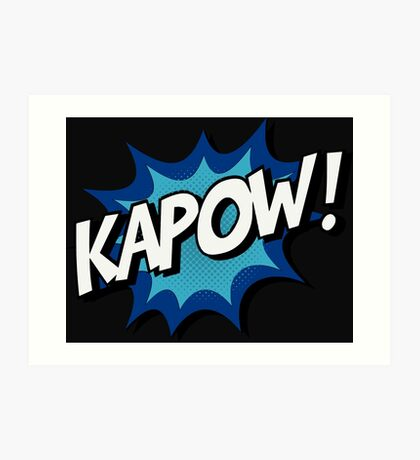 Kapow! Comic Art Print