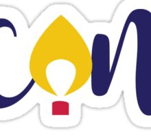 UCONN - Flame  Sticker