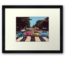 The Abbey Road Collage Framed Print