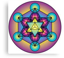 Metatron's Cube Merkaba Canvas Print