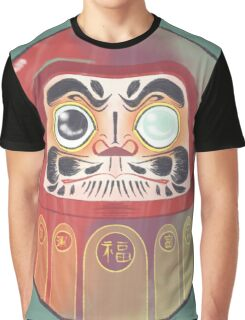 Colorful Daruma Graphic T-Shirt