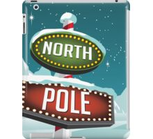 North Pole sign in a snowy Christmas scene. iPad Case/Skin