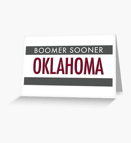 Oklahoma Boomer Sooner Greeting Card
