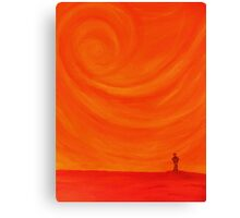 Alone in heated thought Canvas Print