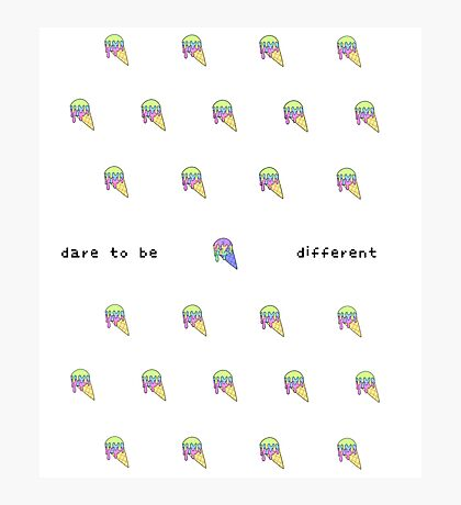 CSD Inspire Series - Dare to be Different Photographic Print