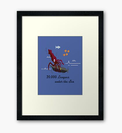 20,000 Leagues Under the Sea Remastered Framed Print