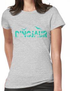 Dinosaur aqua Womens Fitted T-Shirt