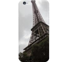 Eiffel Tower on a Cloudy Day iPhone Case/Skin
