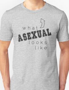 What Asexual Looks Like w/Charcoal Text T-Shirt