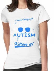 Mom - Cool Autism Mom Womens Fitted T-Shirt