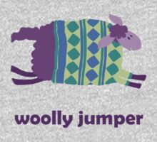 Woolly jumper! in green and blue Kids Clothes