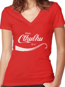 Obey Cthulhu Women's Fitted V-Neck T-Shirt