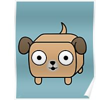 Pit Bull Loaf - Fawn Pitbull with Floppy Ears Poster