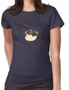 Swimming rockhopper penguin Womens Fitted T-Shirt