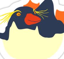 Swimming rockhopper penguin Sticker