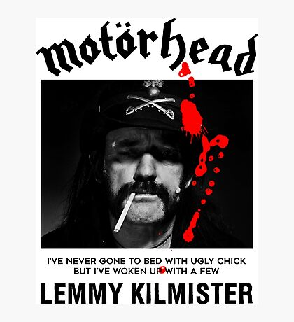 Motorhead Lemmy #2 Photographic Print