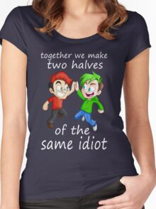 Two Halves of the Same Idiot Women's Fitted Scoop T-Shirt