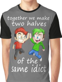 Two Halves of the Same Idiot Graphic T-Shirt