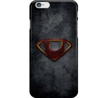 """The Letter U in the Style of """"Man of Steel"""" iPhone Case/Skin"""