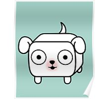 Pit Bull Loaf - White Pitbull with Floppy Ears Poster