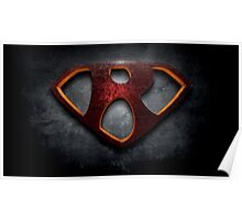 "The Letter R in the Style of ""Man of Steel"" Poster"