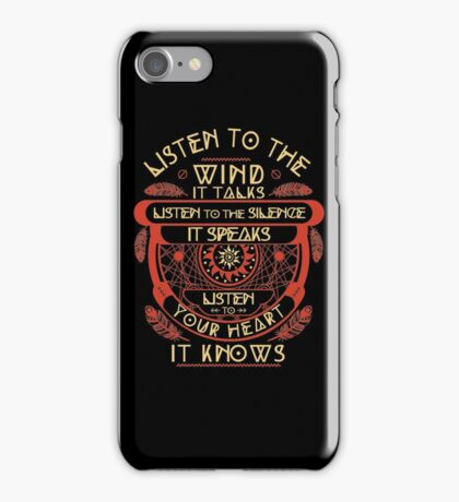 Listen to the wind it talks listen to the silence iPhone Case/Skin
