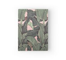 Banana Leaf in pink Hardcover Journal