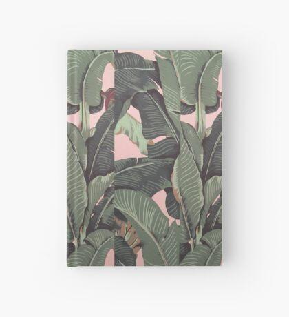 Banana Leaf in pink Hardcover Journal