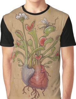 Dionaea Heart (Venus Flytrap) Graphic T-Shirt