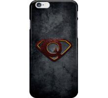 """The Letter Q in the Style of """"Man of Steel"""" iPhone Case/Skin"""