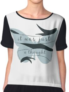 Here Comes A Thought Chiffon Top