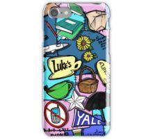 Gilmore Girl Pattern blue iPhone Case/Skin