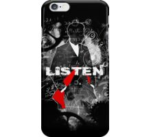 LISTEN - Chalk & Scribbles (Doctor Who) iPhone Case/Skin