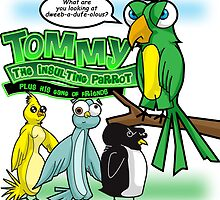 Tommy the Insulting Parrot by EJTees