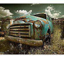 Abandoned GMC Panel Truck Photographic Print