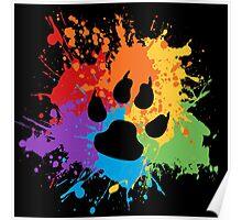 Pride Splash - Furry Pride Poster