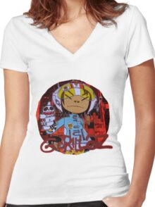 Gorillaz G Sides Women's Fitted V-Neck T-Shirt