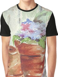 Violets in a pot Graphic T-Shirt