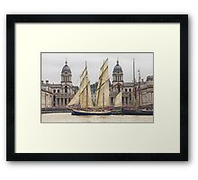 Full sail at Greenwich Framed Print