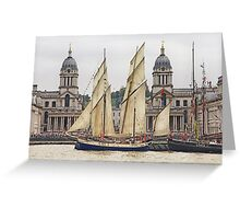 Full sail at Greenwich Greeting Card